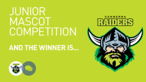Canberra Raiders Junior Mascot Competition